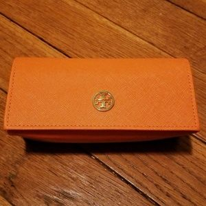 Tory Burch Orange Sun Glasses Case